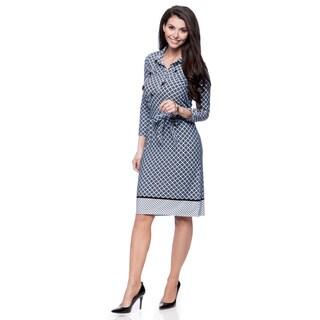Jones New York Missy 3/4 Sleeve Shirt Dress