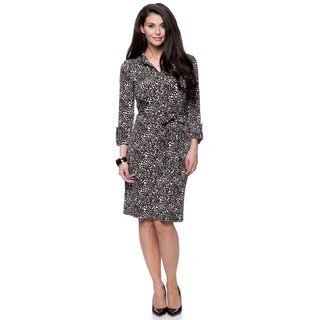 Jones New York Women's Missy 3/4 Sleeve Shirt Dress