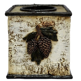 HiEnd Accents Birch Pinecone Tissue Box