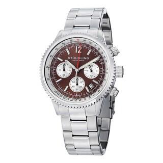 Stuhrling Original Men's Quartz Chrono Monaco Stainless Steel Bracelet Watch