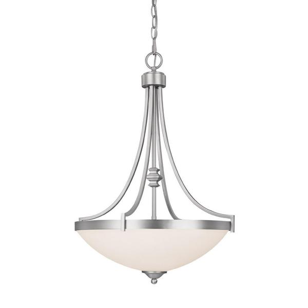 Capital Lighting Town and Country Collection 3-light Matte Nickel Pendant