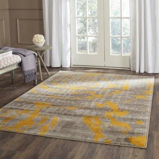 Safavieh Porcello Light Grey/ Yellow Rug (3' x 5')