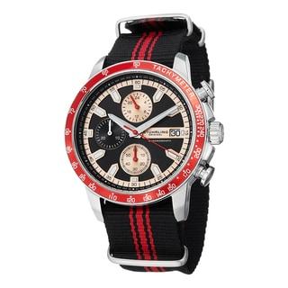 Stuhrling Original Men's Quartz Chrono Monaco Canvas Strap Watch