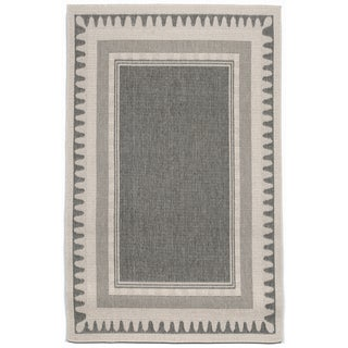 Wavey Border Outdoor Rug (4'10X7'6)