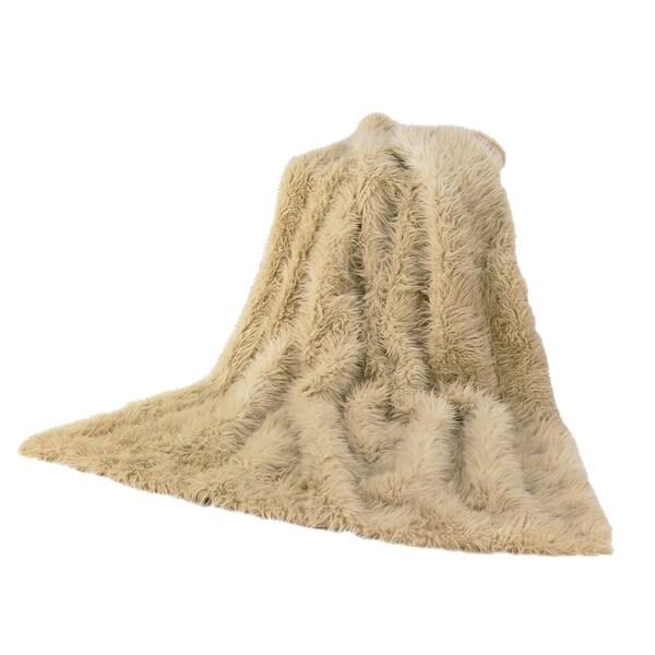 HiEnd Accents Faux Fur Throw Sheep