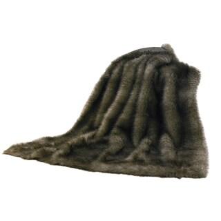 HiEnd Accents Chinchilla Faux Fur Throw
