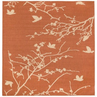 Branch And Bird Outdoor Rug (7'10 SQ)