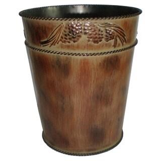 HiEnd Accents Pine Cone Waste Basket