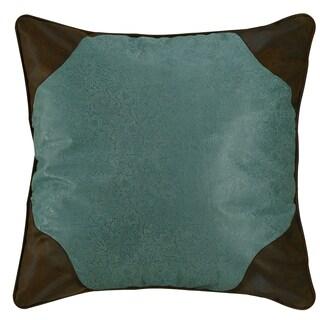 HiEnd Accents Calhoun Turquoise Throw Pillow