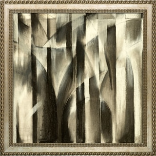 Clive Watts A Charcoal Study For An Abstract Composition Framed Fine Art Print