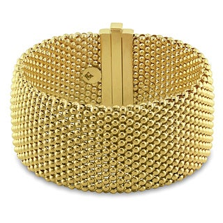 Miadora 18k Yellow Gold Mesh Look Bracelet