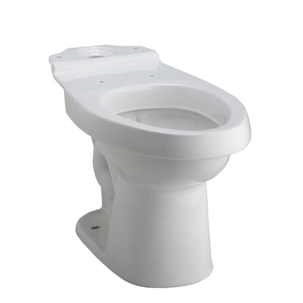 Karsten Dual Flush Elongated White Toilet Bowl