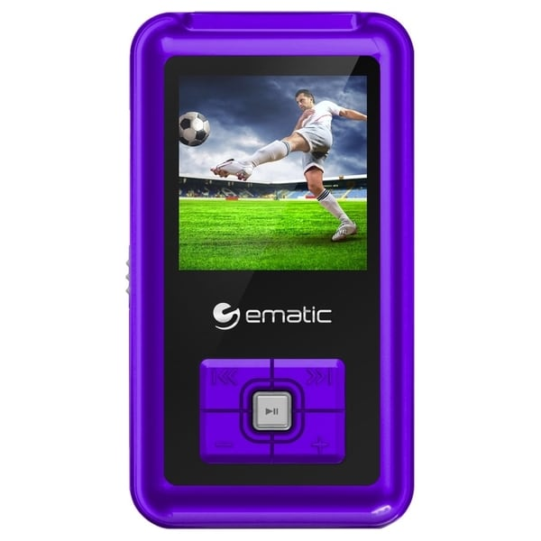 Ematic EM208VID 8 GB Purple Flash Portable Media Player