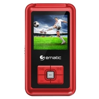 Ematic EM208VID 8 GB Red Flash Portable Media Player