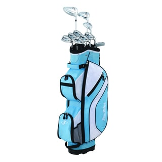 Tour Edge Golf Women's Blue Reaction 3 Bag and Club Set