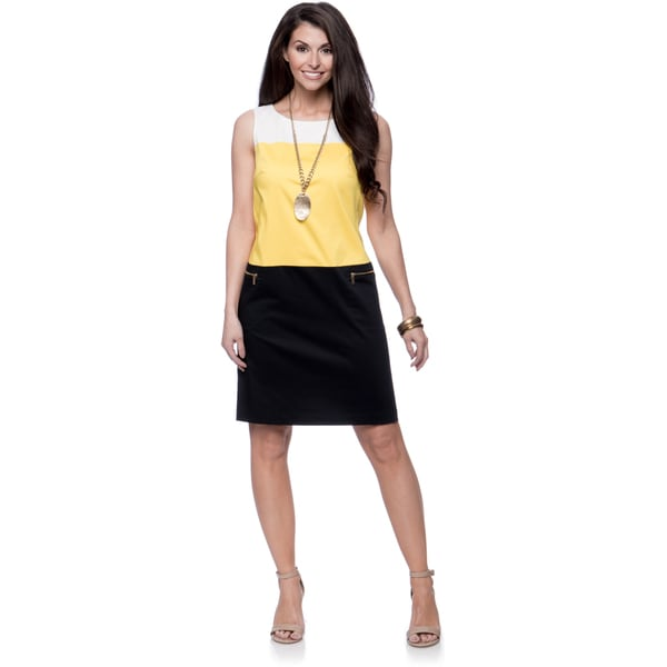 Jones New York Missy Color-Block Shift Dress