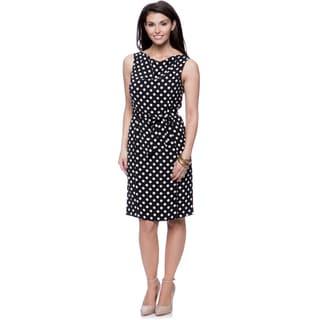 Jones New York missy Sleeveless Drape Neck Printed Dress