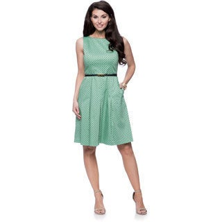 Jones New York Missy Boatneck Fit and Flare Dress