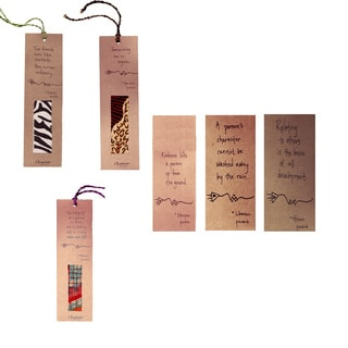 Kitenge African Proverb Assortment of 15 Bookmarks (Kenya)