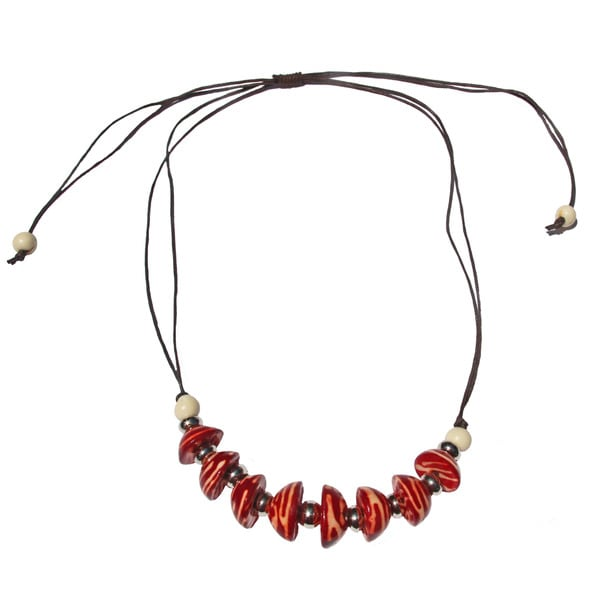 Red Bombona Necklace (Colombia)