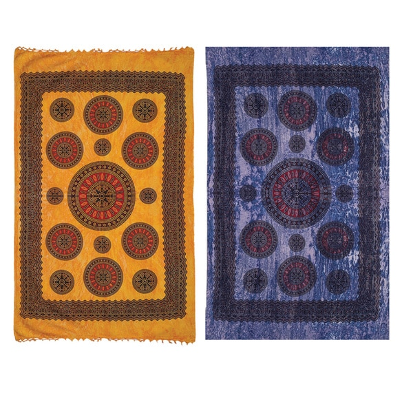 Mandala Print Cotton Tapestry (India)