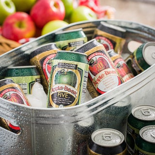 Apple Beer Co. Original and 'FIVE' Gluten Free Non-alcoholic Apple Beer (Pack of 12)