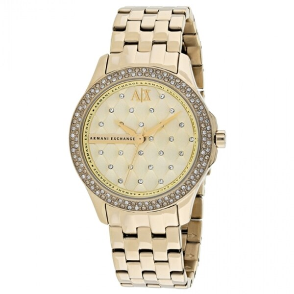 Armani Exchange Women's AX5216 Goldtone Stainless Steel Quartz Watch