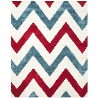 Safavieh Kids Shag Ivory/ Red Rug (8'6 x 12')