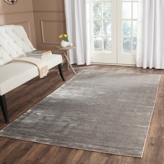Safavieh Loom-knotted Mirage Steel Viscose Rug (9' x 12')