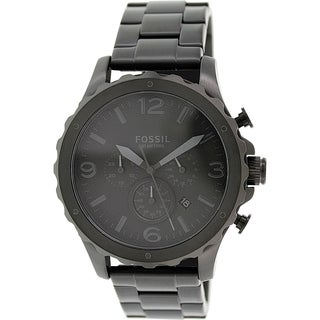 Fossil Men's Nate JR1470 Black Stainless Steel Quartz Watch