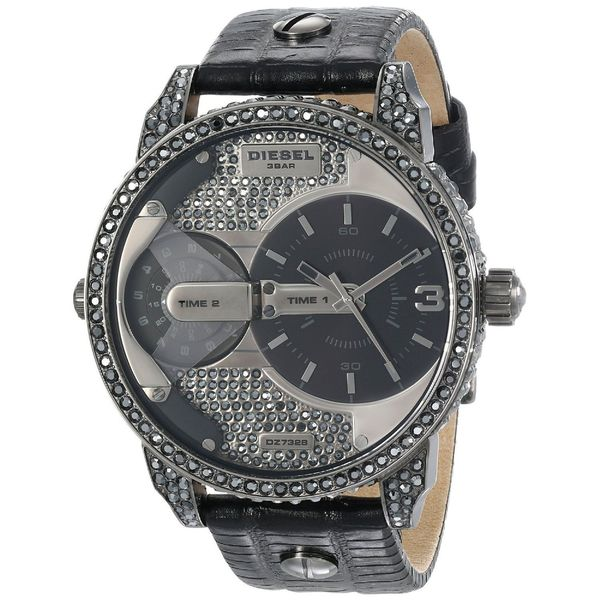 Diesel Women's Mini Daddy DZ7328 Black Leather Quartz Watch