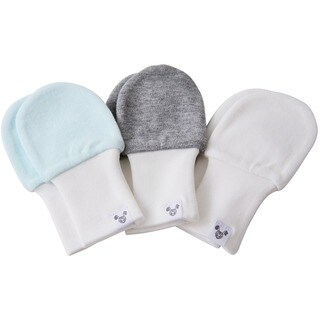 Crummy Bunny Stay On Baby Mittens (Set of 3)