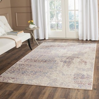 Safavieh Evoke Cream/ Purple Rug (8'6 x 12')