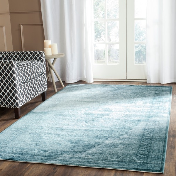 Safavieh Vintage Light Blue Dark Blue Viscose Rug 8 X