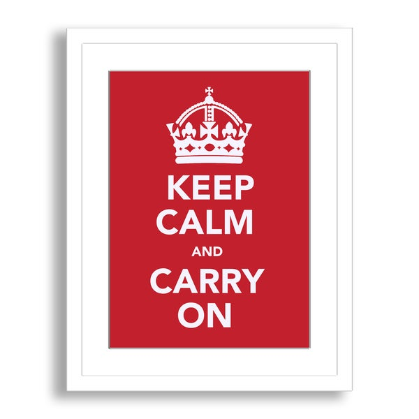 'Keep Calm and Carry On' Framed Paper Art