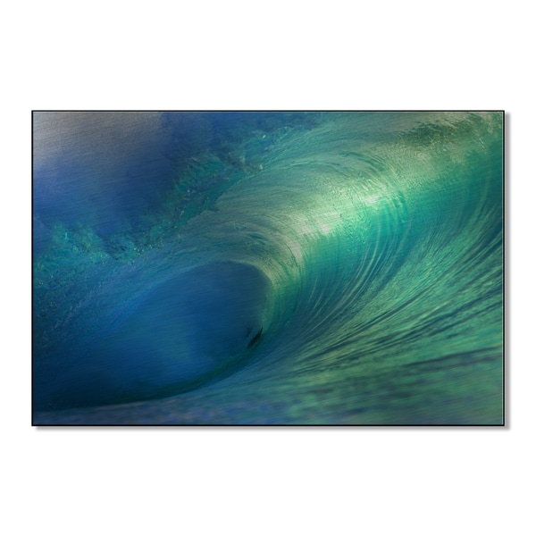One Saichner's 'Hawaii Pipeline Empty Wave 4' Print on Metal