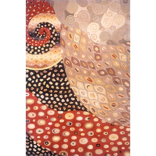 New Wave West Indies Hand-tufted Wool Rug (7'6 x 9'6)