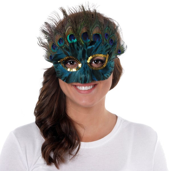 Peacock Duck Feather Mask