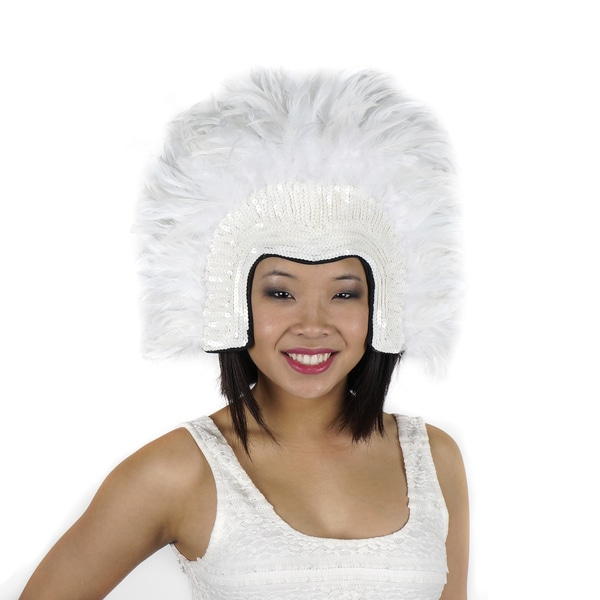 Coque Feather Headdress with Sequins