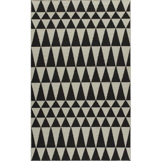 Mersa Triangles Reversible Flat Weave Wool Dhurrie Area Rug (8' x 10')
