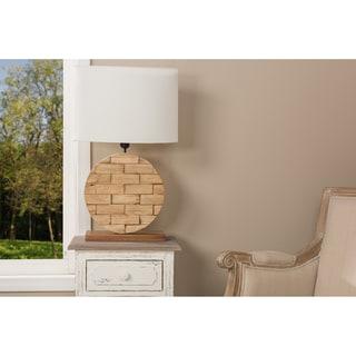 Budalin Wood & Fabric Table Lamp