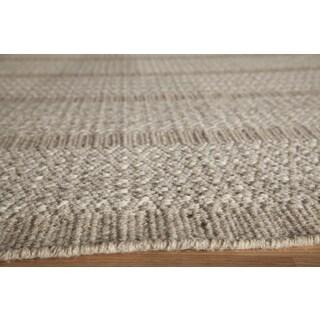 Sorrel Diamond Stripe Reversible Indoor Hand-woven Wool Rug (8' x 10')