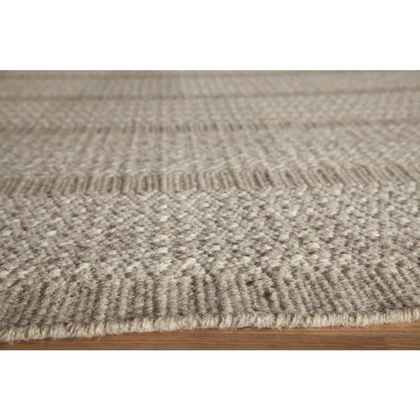 Sorrel Diamond Stripe Reversible Indoor Hand Woven Wool