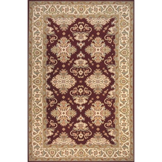 Royal Persian Burgundy Hand-finished New Zealand Wool Rug (8' x 10')