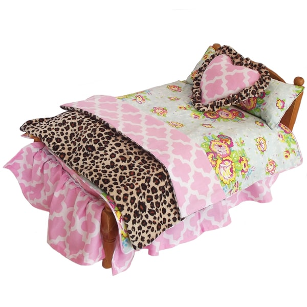 AnnLoren Bouquet Floral/Lattice 6-piece Bedding Set