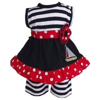 Ann Loren Nautical Sailboat 2-piece Outfit