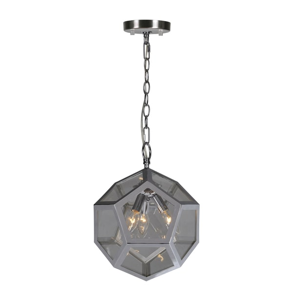 Renwil Pennant 3-light Chrome Ceiling Fixture