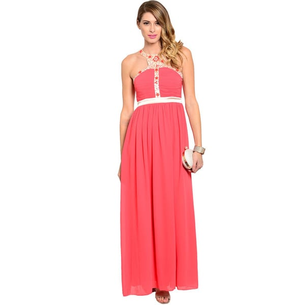 Shop The Trends Women's Sleeveless A-line Maxi Dress
