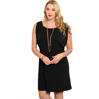 Plus size black sleeveless dresses