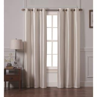 Victoria Classics Preston Faux Silk 84-inch Curtain Panel Pair
